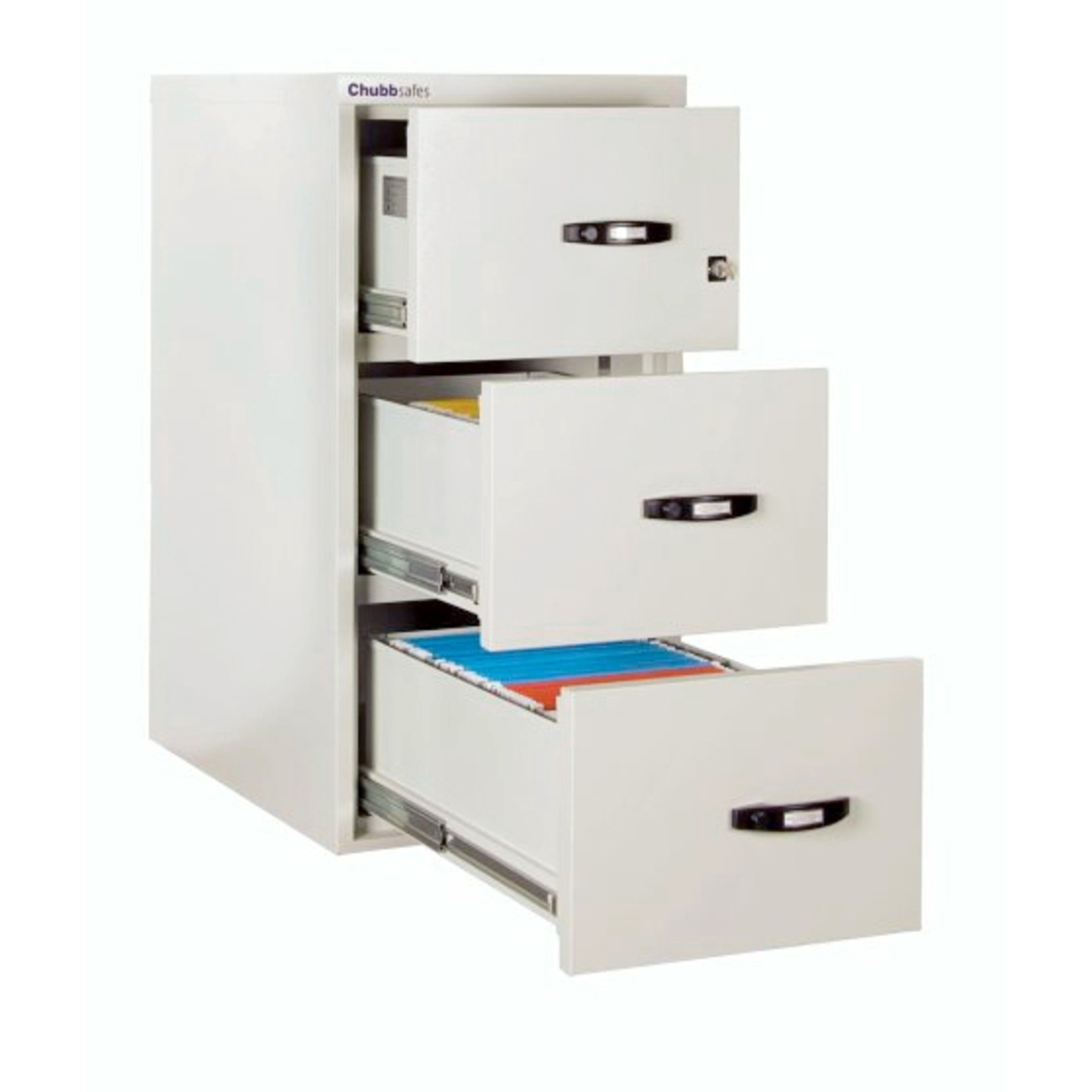 Chubbsafes Profile 3 Drawer Filing Cabinet   Fireproof ...